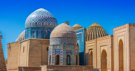 Shah-i-Zinda, a necropolis in Samarkand, Uzbekistan Fototapete