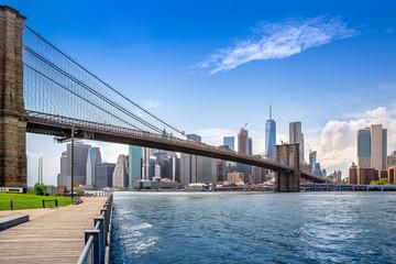 Wall Mural - brooklyn bridge and new york city manhattan