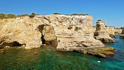 Torre di Sant Andrea, Salento coast, Puglia in Italy