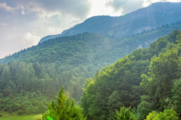 Spoed Foto op Canvas Khaki Mountains in South Tyrol in Italy at sun in summer in Ballino