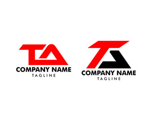 Set of Initial Letter TA Logo Icon Design Template