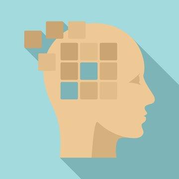 Forget memory alzheimer icon. Flat illustration of forget memory alzheimer vector icon for web design