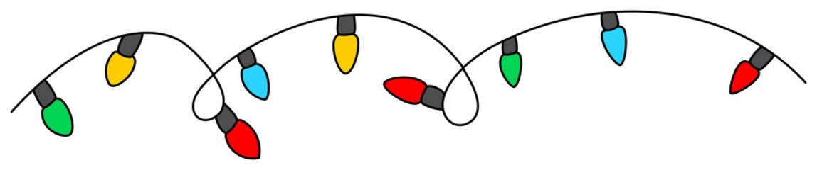 Christmas light bulbs. Vector illustration isolated on white.