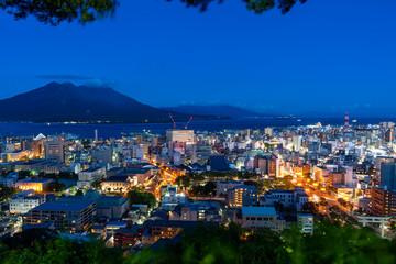Foto op Canvas Turkije [鹿児島県]鹿児島市街と桜島