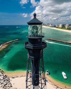 Light house on coast