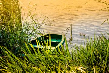 Fishing boat at Jezioro Kórnickie, Poland
