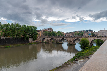 Sain Peter - Tevere river - Rome - Italy