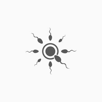 sperm icon, fertilization vector illustration
