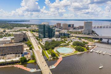 Wall Mural - Aerial photo Southbank Downtown Jacksonville FL
