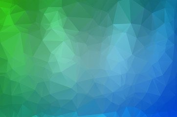 Light Blue Green Low poly crystal background. Polygon design pattern. Low poly vector illustration, low polygon background.