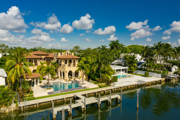 Luxury Miami Beach real estate aerial photography