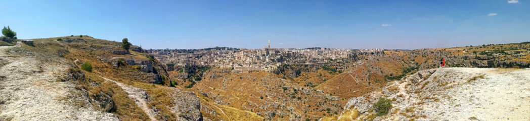 Sassi of Matera, capital of European culture, UNESCO heritage, panoramic image
