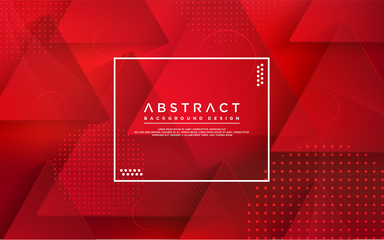 abstract red modern geometry background. colorful gradient background.