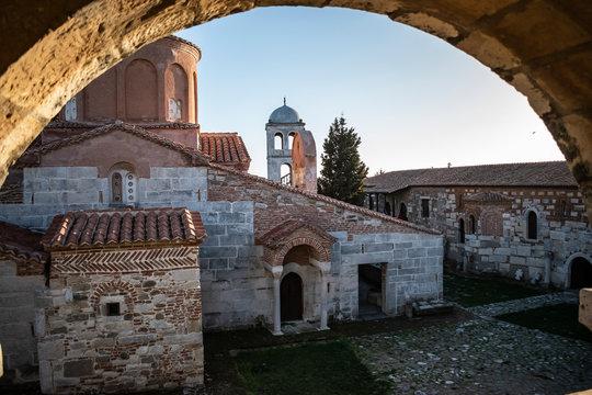 View of the Monastery of Saint Mary, Apollonia, Albania.