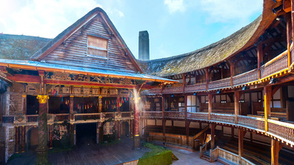 hakespeare's Globe Theatre in London, UK