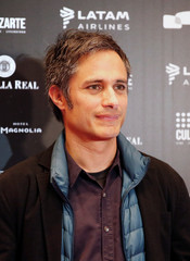 Mexican actor Gael Garcia Bernal poses for a picture during the SANFIC International Film Festival in Santiago