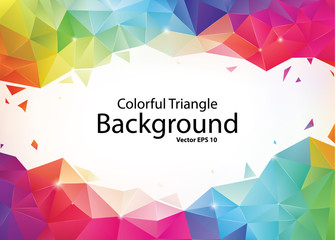 Colorful Geometric Triangle Background Fototapete