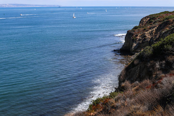 San Diego Bay and the cliffside below Cabrillo National Monument.