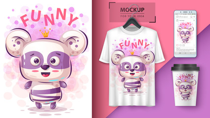 Princess panda - mockup for your idea
