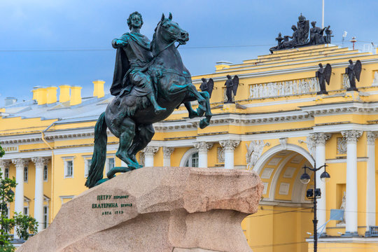 Monument to Peter the Great (Bronze horseman) in St. Petersburg, Russia