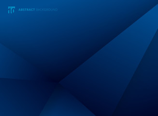 Abstract template geometric triangles blue gradient color modern background design. You can use for brochure, presentation, poster, leaflet, flyer, print, advertising, banner web, website.