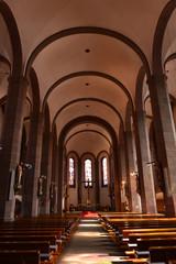 Innenansicht Cyriakuskirche in Oberkirch Ortenaukreis / Baden-Württemberg
