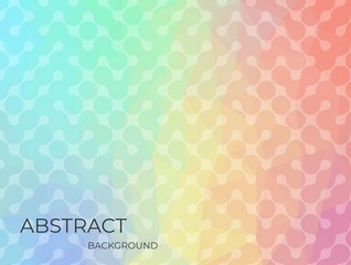Triangle rainbow color background design in flat style . EPS10