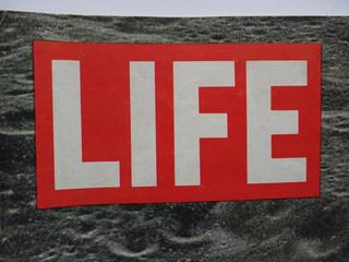 NEW YORK - AUG 2019: Life magazine header sign