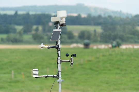 A small weather station on a farm.
