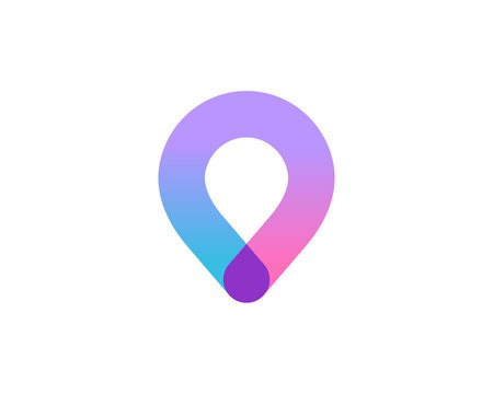 Geotag or location pin logo icon design