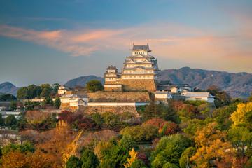 Fotomurales - View of Himeji Castle (autumn season) in Japan