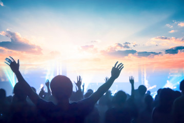 church concept: worship and praise