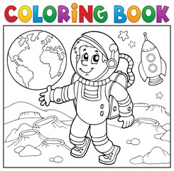 Coloring book astronaut theme 2