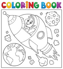 Coloring book space theme 2