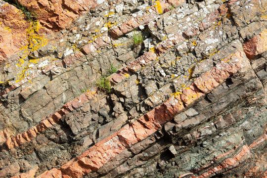 Closeup on Rock Layers