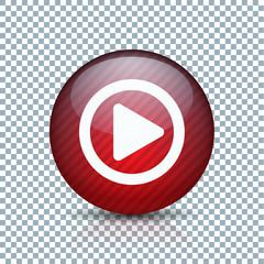 Play Arrow Button sign transparent background  illustration