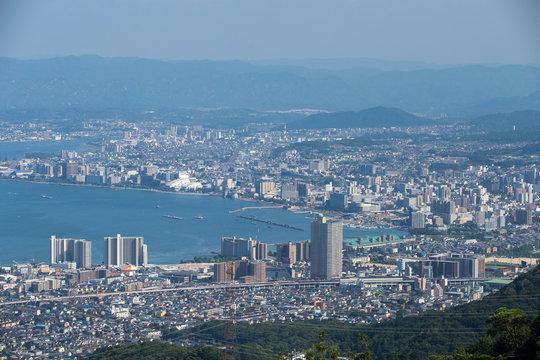 【滋賀県大津市びわ湖】比叡山ドライブウェイの夢見ヶ丘展望台から見下ろすびわ湖