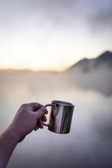 Kaffee und Sonnenaufgang