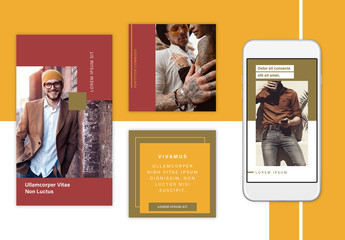 Earthy Geometric Social Stories Set