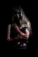 Pale bloody woman
