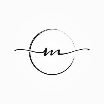 M letter initial logo design