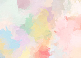 paint like illustration in watercolor style in dreamy pastel tone color