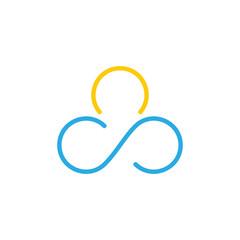 infinity ice cream design logo vector