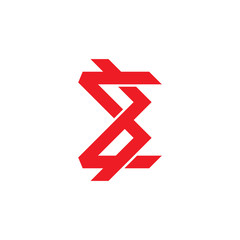 abstarct sigma geometric line logo vector