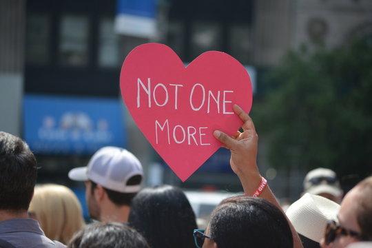 Moms Demand Action recess rally for gun control.
