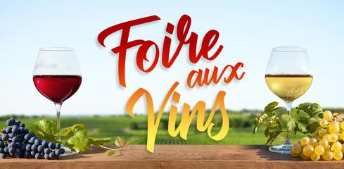 Foire aux vins rouge et blanc