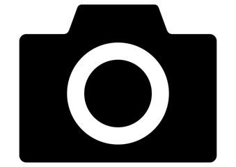 gz415 GrafikZeichnung - german icon - Fotokamera: - english - photo camera: simple template isolated on white background. A2, A3, A4 - poster xxl g8454