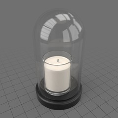 Candle in glass dome