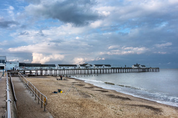 Southwold beach on the Suffolk coast of East Anglia