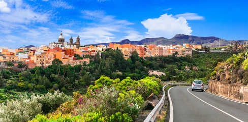 Travel in Gran Canaria - beautiful Aguimes town. Best of Grand Canary series